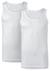 ten Cate Basic singlets (2-pack), heren hemden met O-hals, wit