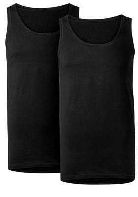 Ten Cate Basic heren singlets O-hals, 2-pack, zwart
