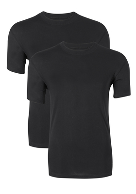 Ten Cate Basic heren T-shirts O-hals, 2-pack, zwart