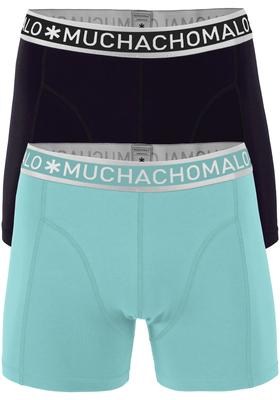 Muchachomalo boxershorts 2-pack, zwart en acqua