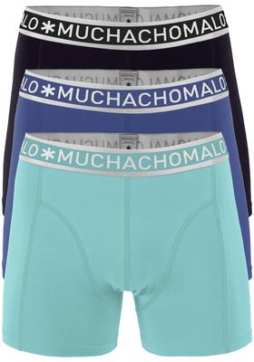 Muchachomalo boxershorts 3-pack, zwart, blauw en acqua