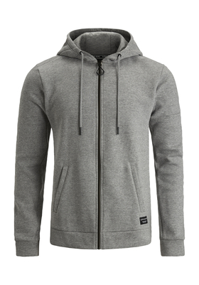 Bjorn Borg hoodie jacket, sweatvest grijs melange