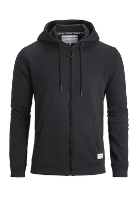 Bjorn Borg hoodie jacket, sweatvest zwart