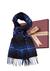 Michaelis heren sjaal in cadeaudoos, grijs-blauw geruit