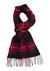 Michaelis heren sjaal in cadeaudoos, bordeaux-zwart geruit