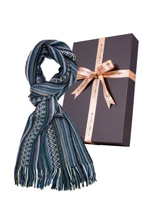 Michaelis heren sjaal, groen gestreept