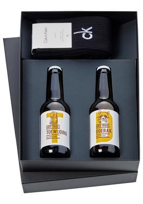 Heren cadeaubox: Moll bier met Calvin Klein sokken