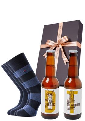 Heren cadeaubox: Moll bier met Tommy Hilfiger sokken