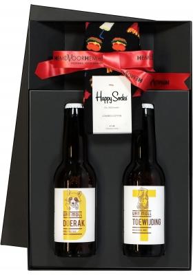 Heren cadeaubox: Moll bier met Happy Hamburger Socks