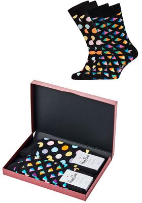 Happy Socks cadeauset, 2-pack Kleurig zwart