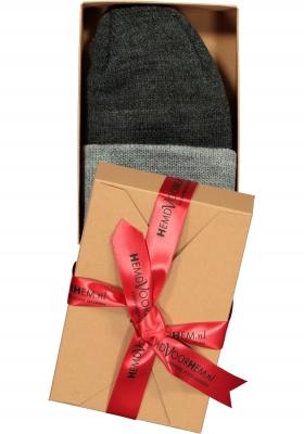 Muts Michaelis in cadeauverpakking, antraciet met grijze omslag