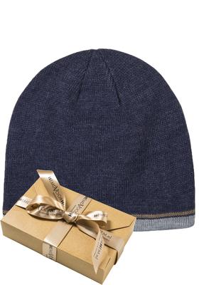 Muts Michaelis in cadeauverpakking, blauw met randje