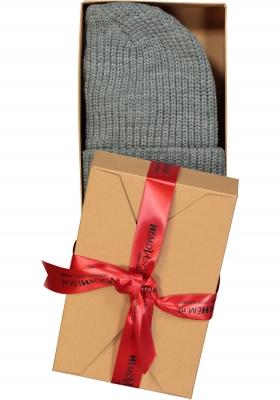 Muts Michaelis in cadeauverpakking, grijs met omslag
