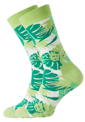 Happy Socks sokken Jungle Sock groen