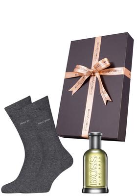 """Heren cadeaubox: Hugo Boss """"Bottled"""" parfum + Hugo Boss sokken"""