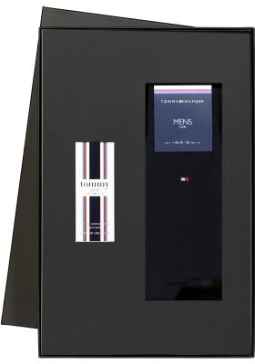 Heren cadeaubox: Tommy Hilfiger parfum + 2-pack Tommy Hilfiger sokken donkerblauw