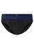 Hugo Boss slips (3-pack), zwart met gekleurde band