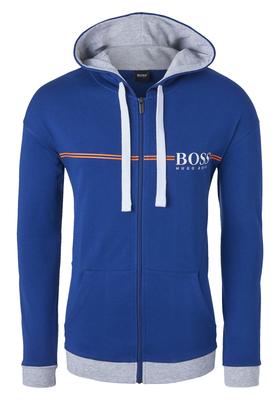 Hugo Boss heren lounge vest, kobaltblauw met capuchon