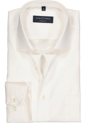 CASA MODA modern fit overhemd, beige/off-white