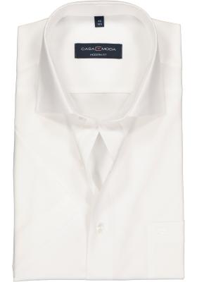 Casa Moda Modern Fit overhemd korte mouwen, wit