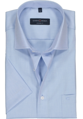 Casa Moda Modern Fit overhemd korte mouwen, lichtblauw