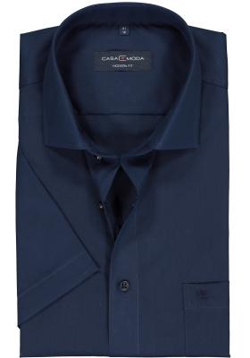 CASA MODA modern fit overhemd, korte mouw, donkerblauw