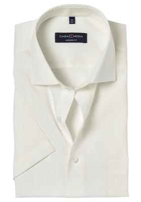 Casa Moda Modern Fit overhemd korte mouwen, beige / off-white