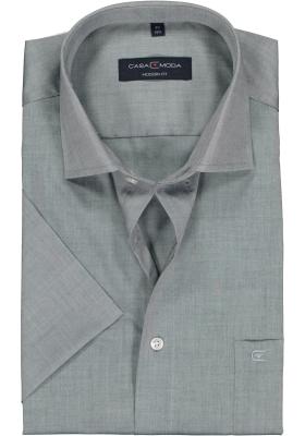 Casa Moda Modern Fit overhemd, korte mouw, grijs