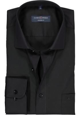 Casa Moda Modern Fit overhemd, mouwlengte 7, zwart