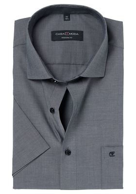 Casa Moda Modern Fit overhemd korte mouwen, antraciet