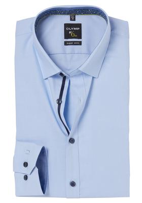 OLYMP No. 6 Six, Super Slim Fit overhemd mouwlengte 7, lichtblauw (contrast)
