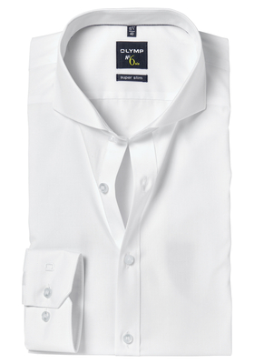 OLYMP No. Six super slim fit overhemd, wit