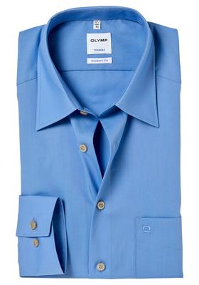 OLYMP Tendenz Modern Fit overhemd, blauw