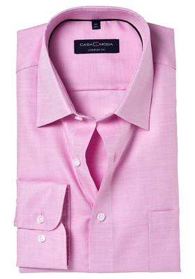 Casa Moda Comfort Fit overhemd, roze structuur