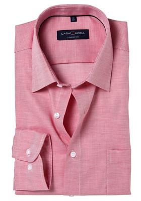 Casa Moda Comfort Fit overhemd, rood structuur