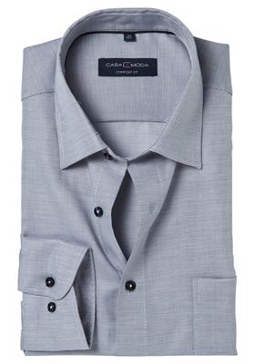 Casa Moda Comfort Fit overhemd, grijs structuur