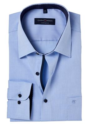 Casa Moda Comfort Fit overhemd, lichtblauw (gestipt contrast)