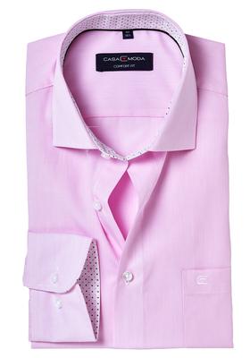 Casa Moda Comfort Fit overhemd, roze gestreept (gestipt contrast)
