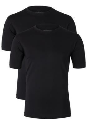 Casa Moda  T-shirts (2-Pack), O-neck, zwart