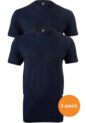 ALAN RED T-shirts Virginia (2-pack), O-hals, donker blauw