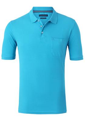 Casa Moda Comfort Fit poloshirt, aqua blauw