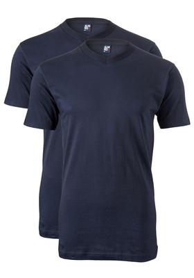 Alan Red T-shirts West Virginia (2-pack), V-hals, donker blauw