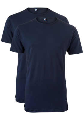 Alan Red T-shirt Derby, extra lang, 2-pack O-hals, donker blauw