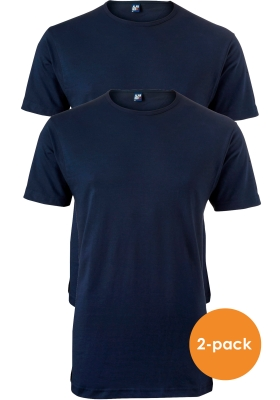 ALAN RED T-shirt Derby extra lang (2-pack), O-hals, donker blauw
