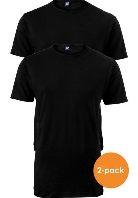 ALAN RED T-shirts Derby extra lang (2-pack), O-hals, zwart