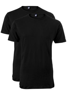 Alan Red T-shirts Derby, extra lang (2-pack), O-hals, zwart