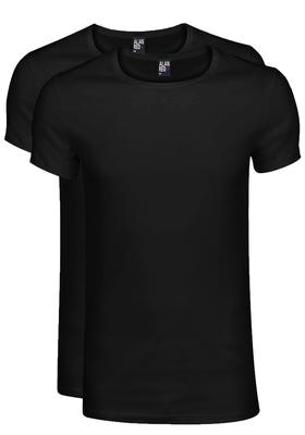 Alan Red T-shirts James (2-pack), diepe O-hals, zwart
