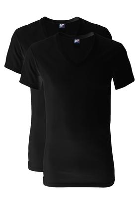 Alan Red T-shirts Dean (2-pack), diepe V-hals, zwart