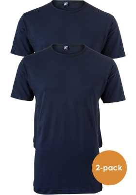 ALAN RED T-shirts Derby (2-pack), O-hals, donker blauw