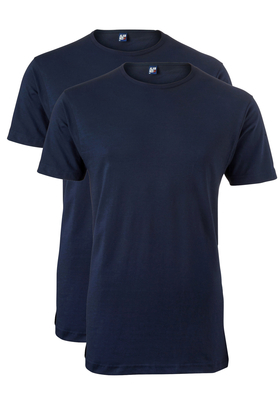 Alan Red stretch T-shirt Ottawa (2-pack), O-hals, donker blauw